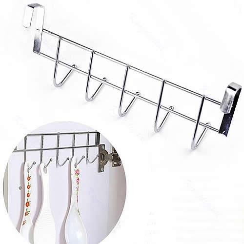Hot Bathroom Kitchen Hat Over Door Hanging Rack Five Hooks Towel Hanger