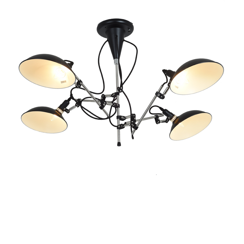 Lustre Chandelier Lighting Modern Lustres Loft Nordic Black Duckbill Adjustable Led Bulbs Chandeliers Home Decor Lampadari