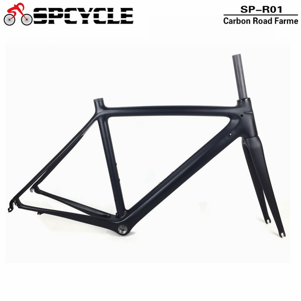 Spcycle 2018 Carbon Road Bike Frame Carbon Fibre Road Cycling Racing Bicycle Frameset Di2 & Mechanical Road Bicycle Frame BSA 2017 flat mount disc carbon road frames carbon frameset bb86 bsa frame thru axle front and rear dual purpose carbon frame