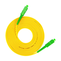 Cable de parche óptico LSZH para fibra óptica, jumper, SC APC a SC APC Simplex, 2,0mm, 3,0mm, modo único, 10 Uds.