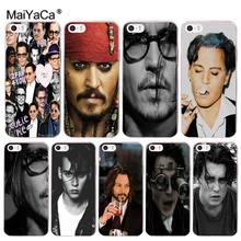 MaiYaCa johnny depp Phone Accessories Case for iPhone 8 7 6 6S PlusX 10 5 5S SE XR XS XS MAX Mobile Pouch(China)