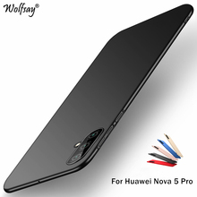 Huawei Nova 5 Pro Case Silm PC Shell Luxury Smooth Hard Phone Bumper For Back Cover Fundas