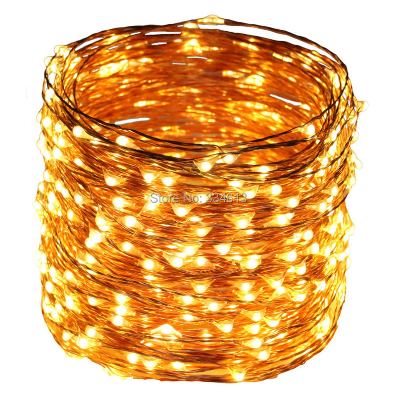 50M 500LEDs Copper Wire LED String Light Christmas Holiday Wedding Decoration with Power adapter DC12V 2A Fairy String Light