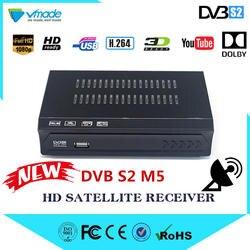 Vmade Европа DVB-S2 цифровое спутниковое телевидение приемник DVB S2 M5 Full HD 1080 P Стандартный Поддержка IPTV YouTube Cccam Dolby телеприставке