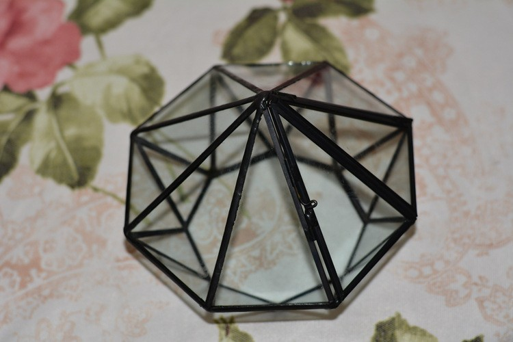 Diamond Geometric Polyhedron Glass Terrarium6