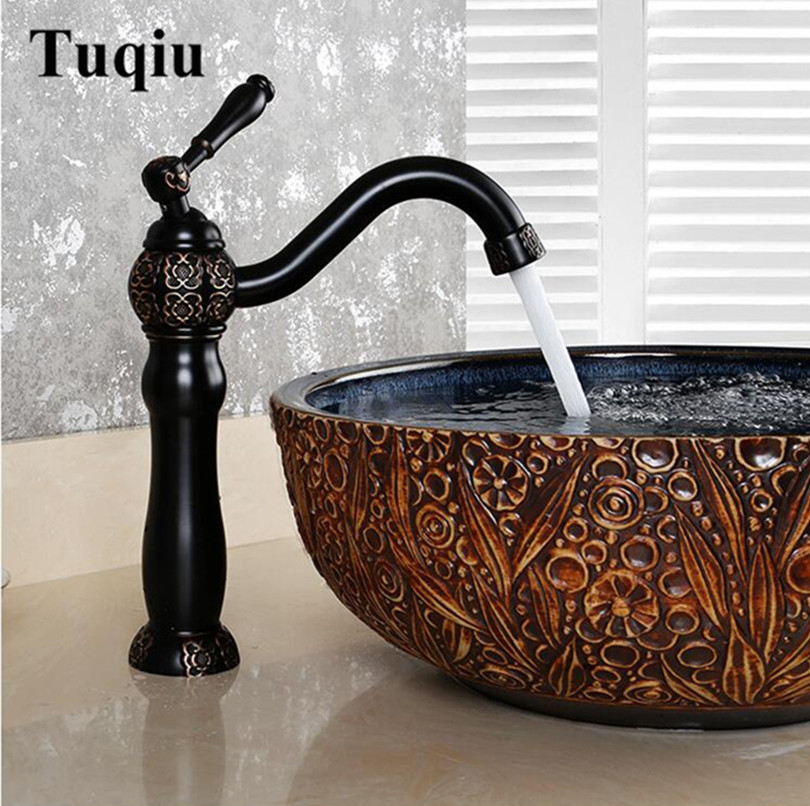 New Arrivals brass Basin Faucet hot and cold Water Faucet single lever art carved single lever bathroom sink faucet basin tap new arrivals single lever basin faucet hot and cold water tap gold kitchen sink faucet water tap 4 colors kitchen faucet