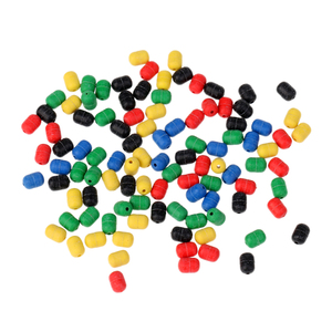 Image 4 - 100Pcs Soft Rubber Buffer Shock FIshing Beads for Helicopter Rigs Protecting Swivels for Bait Fishing Lure
