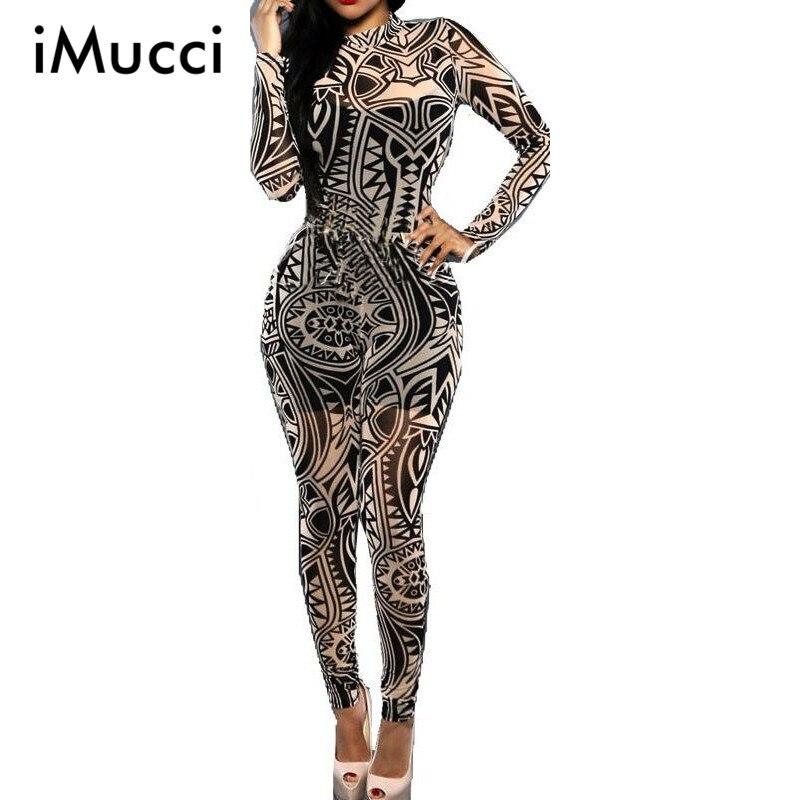 Imucci Mujer Tatuaje Vintage Impresion Mono Elegante Retro Ajustados