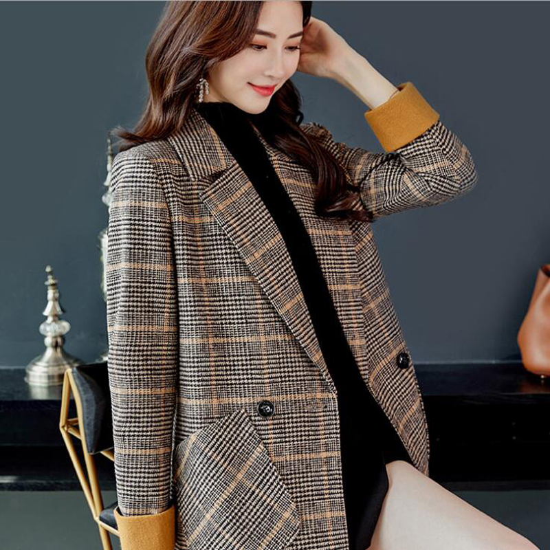 ecd2fcc12146 Fashion Trench Coat for women Clothes Classic Double Breasted Long ...