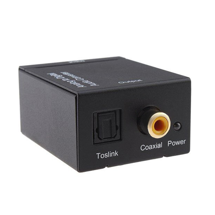 EMK Analog to Digital Audio TV Converter Adapter Optical Fiber Coaxial Toslink Signal Analog Audio Converter RCA for DVD (11)