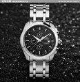 Elegant Businessmen 100% Stainless Steel Self Wind Watches Fashion Men Dress Clock Calendar Display Sapphire Chrome Reloj NW1411