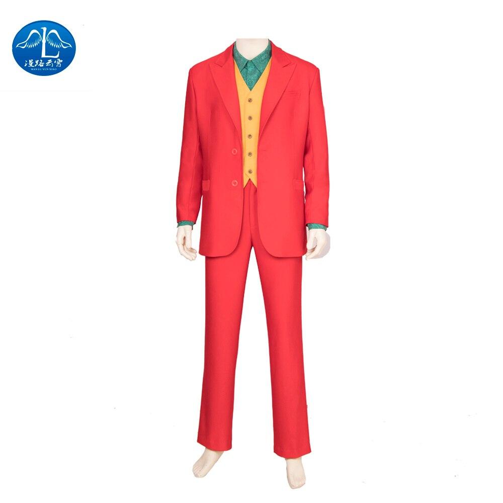 2019 Batman Joker cosplay Costumes Accessories Man Coat Shirt Pants Halloween Purple Jacket Movie Hero Christmas