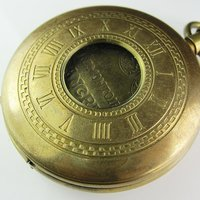 100% Brass Antique Double Cover Mechanical Pocket Watch