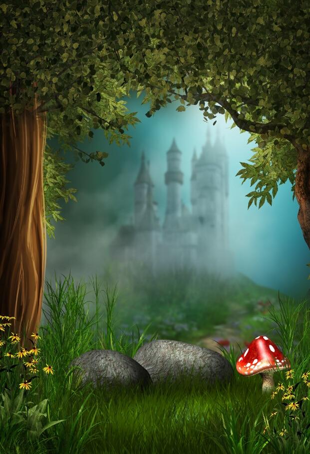200cm 150cm 6 5ft 5ft Magic Castle Mushroom Forest Flower