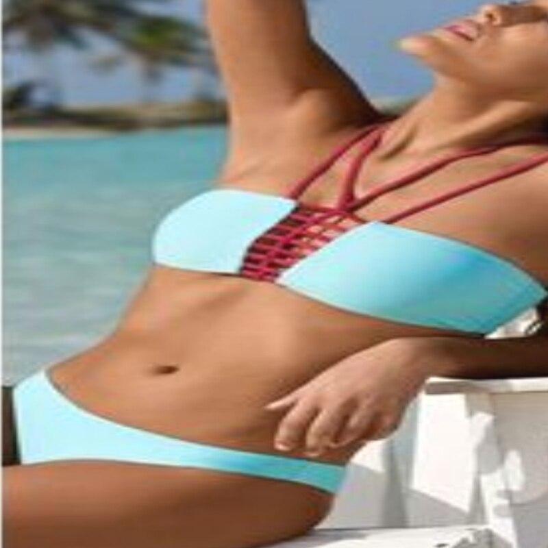 Bikini Sıcak Seksi Kırmızı Strappy Mayo Marka Yeni Stil Yüksek - Spor Giyim ve Aksesuar - Fotoğraf 2
