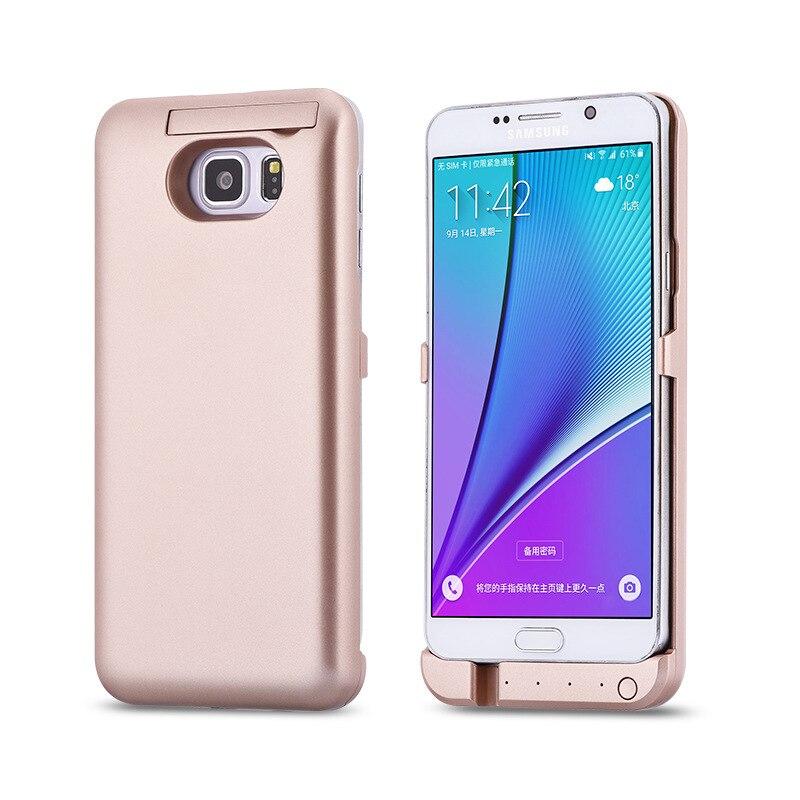 imágenes para 4800 mah Cargador de Batería Externa Para Samsung Galaxy S6 S6 EDGE S7 S7 Borde Note5 de Copia de seguridad de Banco de la Energía Del Teléfono Móvil Caso de la Cubierta
