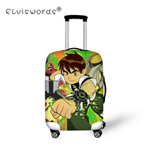 ELVISWORDS Elastic Luggage Protective Cover with Zipper Ben 10 Print Trolley Suitcase Protect Dust Bag Case Bag Accessories