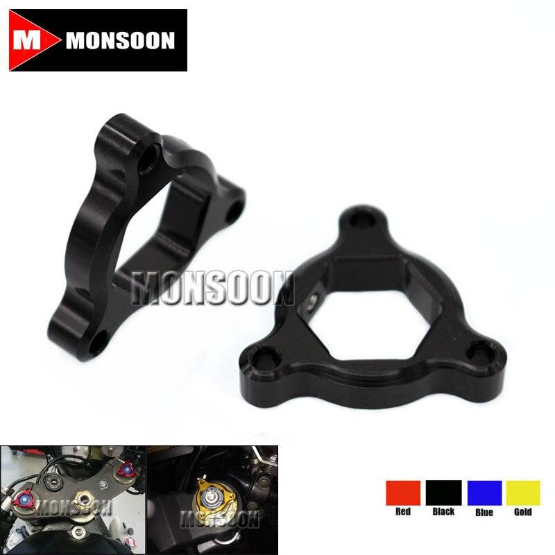For KAWASAKI ZX9R ZX-9R ZX12R ZX-12R ZX7R/RR Motorcycle Accessories 17mm CNC Aluminum Suspension Fork Preload Adjusters Black