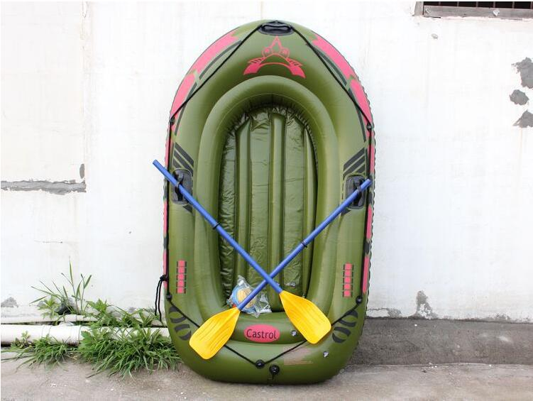Double kayak bearing 100kg thickening inflatable rubber dinghy fishing boat two air swimming boat size 182 * 110cm environmentally friendly pvc inflatable shell water floating row of a variety of swimming pearl shell swimming ring