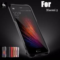 Xiaomi Mi5 Case Xiami Mi 5 Bumper Funda Luphie Luxury Metal Aluminum Frame PU Leather Back