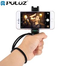 PULUZ Handheld Grip Rig Stabilizer ABS Tripod Adapter Mount with Cold Shoe Base & Wrist Strap