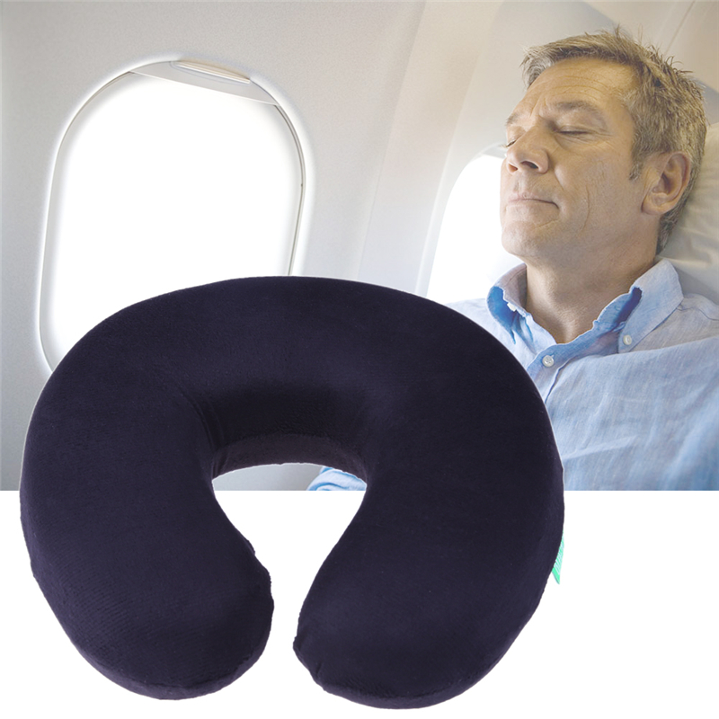 Memory Foam U Shaped Travel Pillow Car Airplane Neck Support Head Rest Cushion for Health Care Headrest image