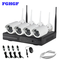 HD 960P Wireless Network IP Security Camera System 4Pcs Wireless WIFI NVR Kits 1 3MP Wireless