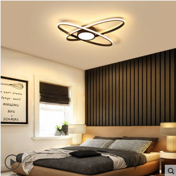 2019 new simple eye care Nordic light modern bedroom study living room led ceiling