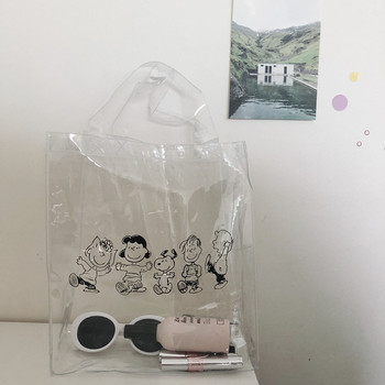 Cheng Pin Ins Rogue Dog monochrome snoppys  pattern Popular Fashion Beach  Bags pencil bag Waterproof Totes Handbag document bag 18 acrylic handbag ins fashion blogger holiday beach wind wild acrylic bird cage bag brand luxury ins popular designer beach