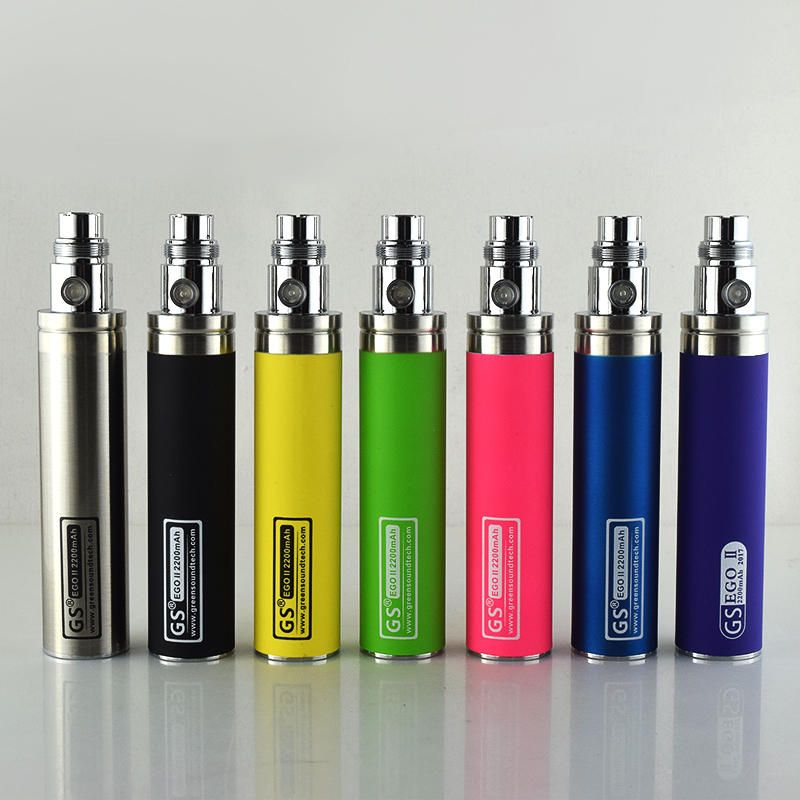 Original E Cigarette GS EGO II 2200mah Battery Fit M14 Ce4 Clearomizer Ce5 Atomizer Ego 510 Thread E Cigarette Ego Battery