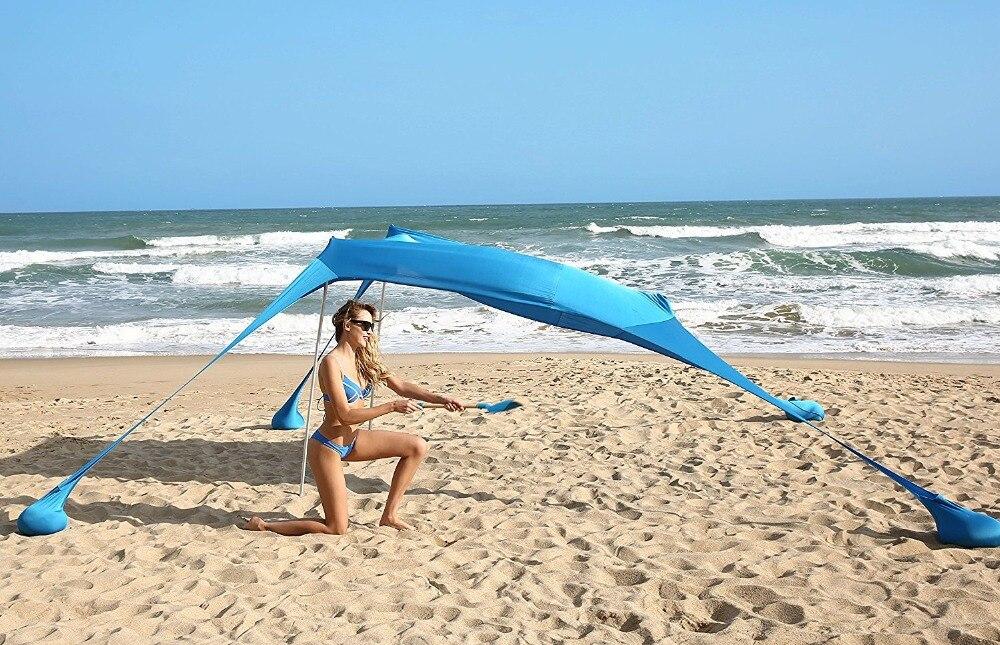 gazebo-210x210-com âncoras de areia. Barraca perfeita do