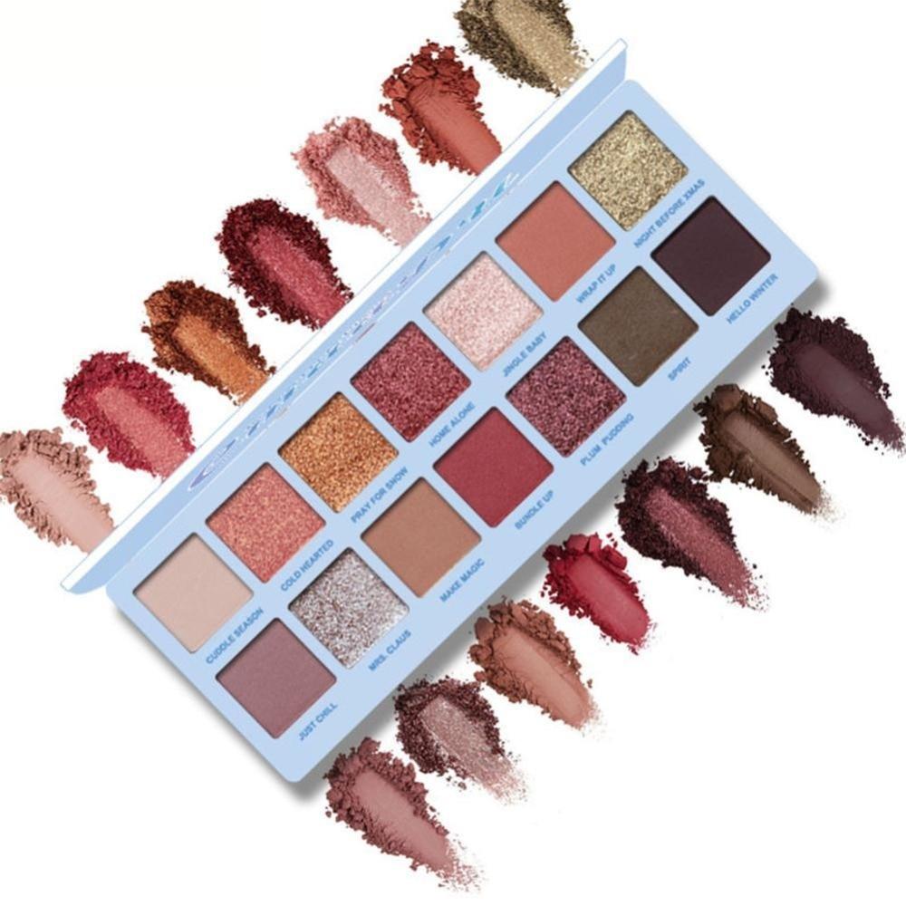 CmaaDu 14 Color Beauty Glazed Waterproof Eye Shadow Palette Powder Makeup Palette Matte Eyeshadow Shadows Lidschatten in Eye Shadow from Beauty Health