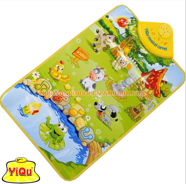 Happy <font><b>Farm</b></font> Chart Baby Toys Export Manufacturer <font><b>Learn</b></font> To Creep Multi-function Music <font><b>Carpet</b></font> Floor MATS