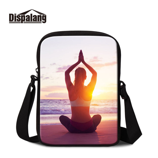 Dispalang Famous Brand Wholesale Custom Logo Cotton Yoga Photo Promotional  Crossbody Business Bag Women Messenger Bags for Lady 6f52d470d3