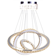 Modern 3 Ring K9 Crystal Chandelier Living Room Room LED Lustre Chandeliers Lighting Pendant bedroom Hanging Lights Fixture modern designer dining room led pendant chandelier lighting lustre acrylic bedroom led chandeliers lamp round led hanging lights