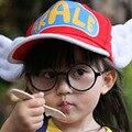1 pc/lot Arale Ajustable Alas Del Ángel Anime Cap Hat para 2-8 año de Los Niños Muchachas de Los Bebés Embroma el Sombrero Sunbonnet Del Verano Cap