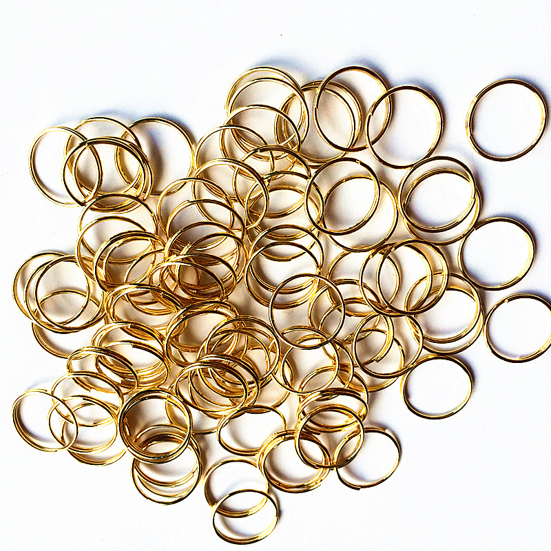1000pcs/lot 12mm Gold Plated Stainless Steel Round Rings,Bead Curtain Accessories Hanging Pendants Metal Connectors