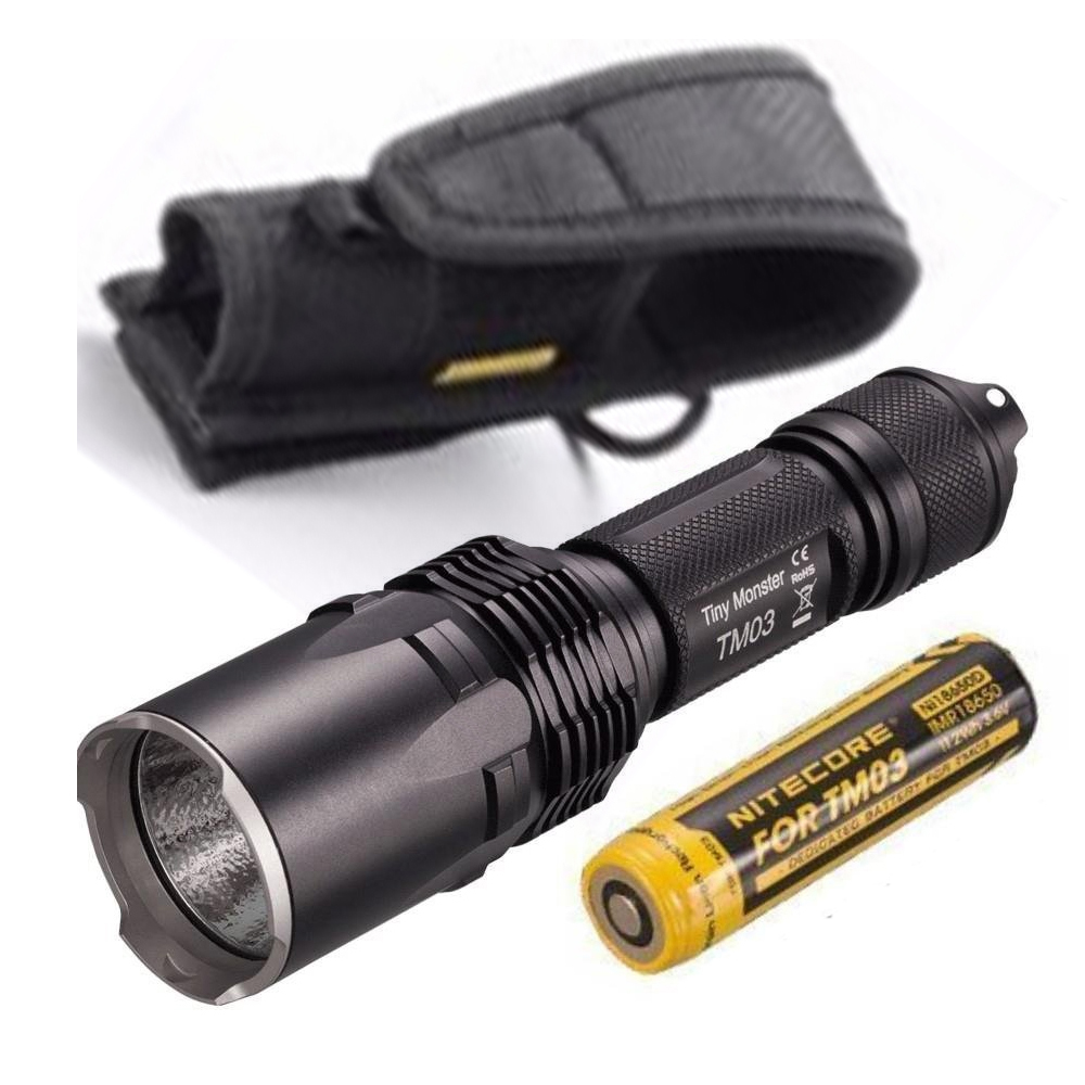 Led Flashlights Original Nitecore Tm06 3800 Lumens 4*cree Xm-l2 U2 Leds Tiny Monster Ipx-8 Tatical Location Beacon+3*nl186 Battery Ace Cheapest Price From Our Site