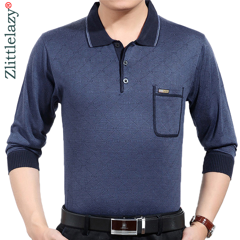2019 new fashion brands pocket long sleeve   polo   shirt wear men camisa masculina mens   polos   hombre blouse poloshirt clothing 5606