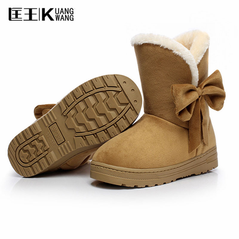 2017 Plus Size 35-42 Women Snow Boots ladies Winter shoes Boots Soft Cotton Shoes woman Ankle Boots With Fur Warm Botas Feminina 2016 rhinestone sheepskin women snow boots with fur flat platform ankle winter boots ladies australia boots bottine femme botas
