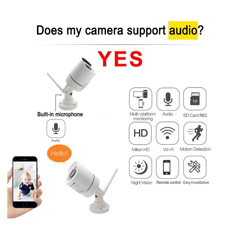 Image 4 - JIENUO WIFI Camera IP 1080P 960P 720P Audio Outdoor CCTV Security Home HD Surveillance Waterproof Wireless Infrared Home CamerasSurveillance Cameras   -