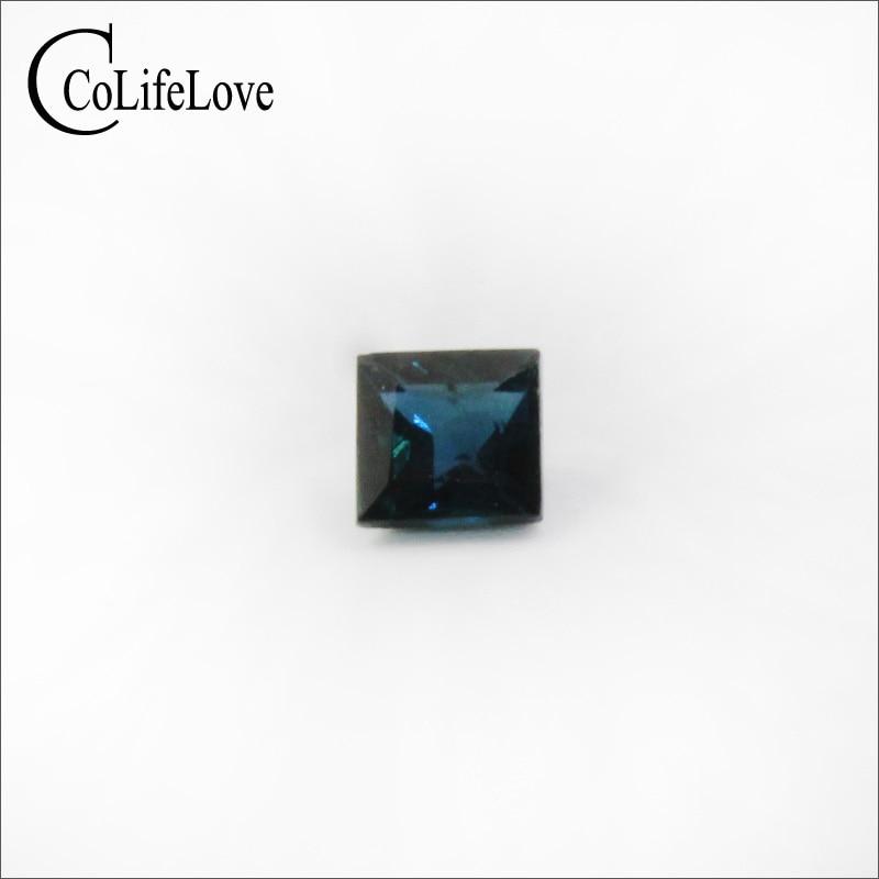 Loose Gemstone Sapphire Princess Cut 4mm for Wedding-Ring Vs-Grade Square