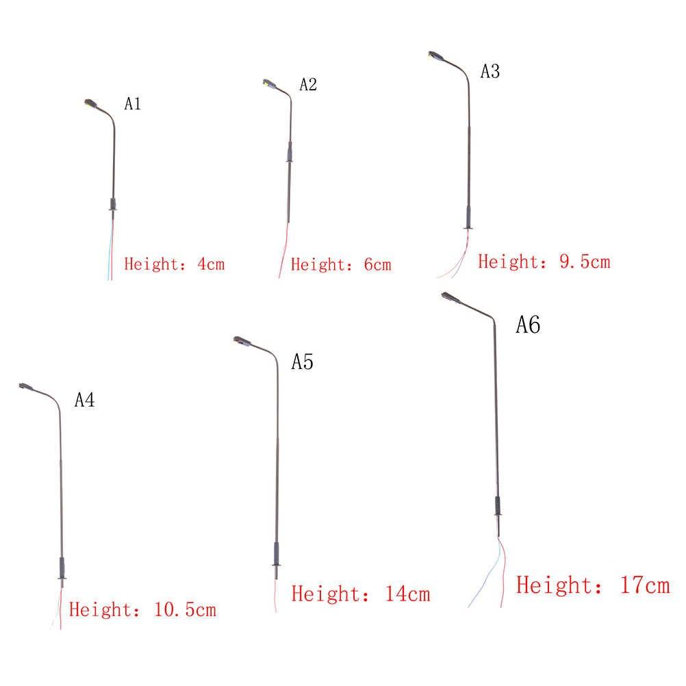 1/3/5 sztuk czarny Model układ pojedyncza reflektory przednie latarni światło krajobrazu modelu dekoracji modelu lampy ogrodowe miniatury