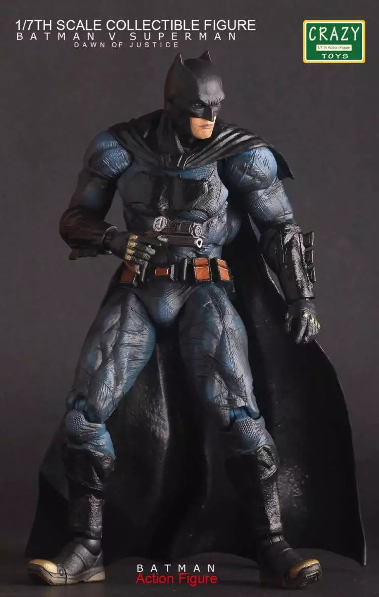 Crazy Toys 25cm Batman The Dark Night PVC Action Figure Collectible Model Toy With Retail Box crazy toys the dark night rises batman assembly pvc action figure collection model toy 22cm