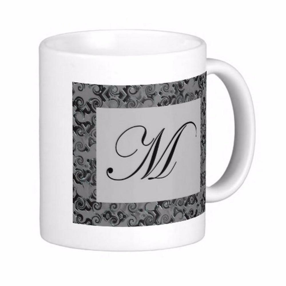 Monogram Letter <font><b>M</b></font> High Quality White Coffee Mugs <font><b>Tea</b></font> Mug Customize Gift By LVSURE Ceramic <font><b>Cup</b></font> Mug Travel Coffee Mugs