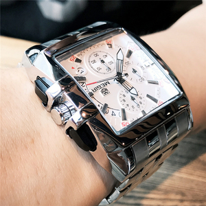 Image 2 - Mens שעונים למעלה מותג יוקרה Megir הכרונוגרף & תאריך אוטומטי עמיד למים נירוסטה רצועת חיצוני ספורט שעון יד שעון