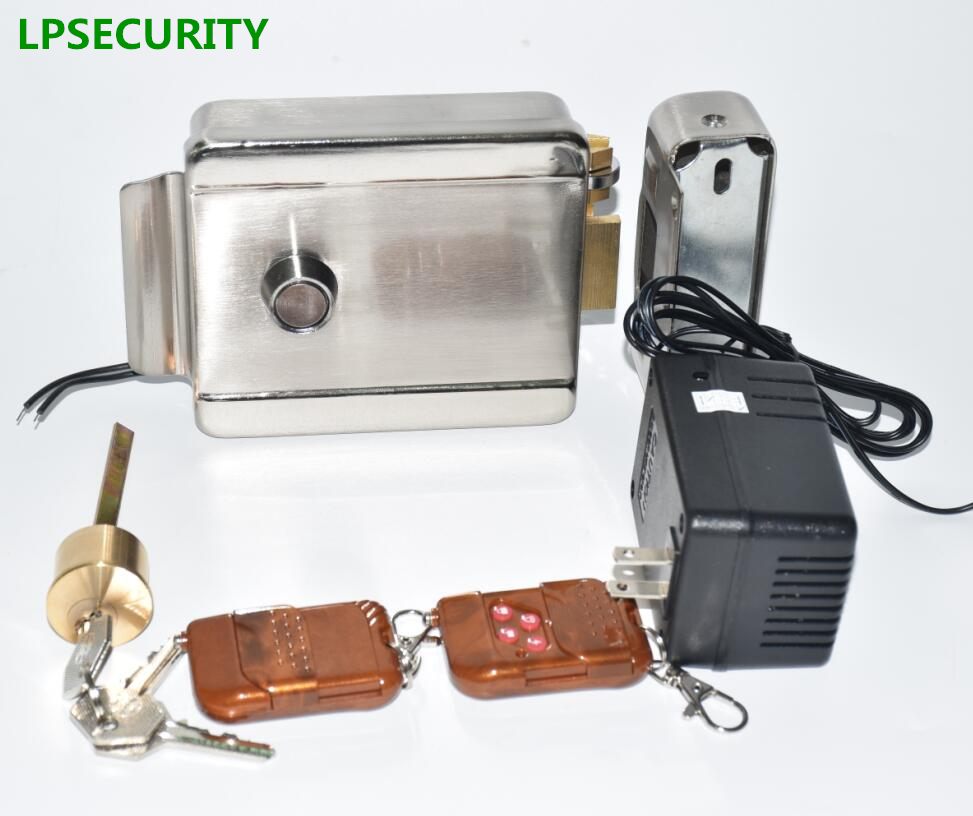 LPSECURITY 12VDC Electronic Security Entry wooden steel Gate Door Lock Access 2 remote Controls 1 adapter Anti-theft SystemLPSECURITY 12VDC Electronic Security Entry wooden steel Gate Door Lock Access 2 remote Controls 1 adapter Anti-theft System