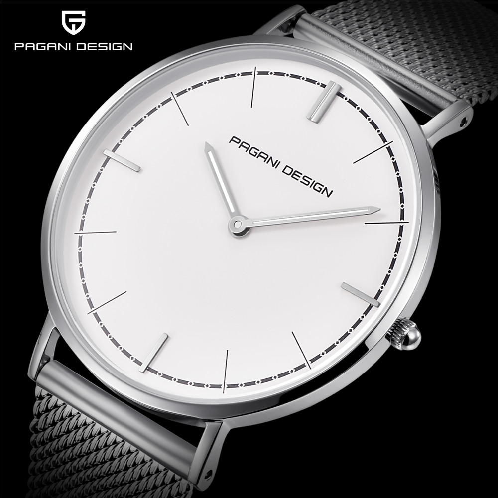 Pagani Design Stainless Steel Lovers Watches Men Women Simple Quartz Couple Watch Luxury Brand Waterproof Clock dropshipping