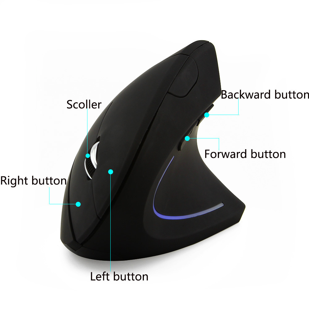 CHYI Wireless Mouse Healthy Vertical Mouse Gaming Ergonomic Optical 2.4 Ghz Gamer Computer Mice For Desktop Laptop PC Notebook