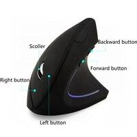 עבור מחשב Chyi Wireless Mouse בריא אנכית עכבר גיימינג ארגונומי אופטי 2.4 Ghz גיימר מחשב עכברים עבור המחברת מחשב נייד Desktop (2)